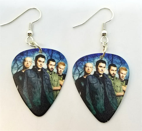 Breaking Benjamin Group Photo Guitar Pick Earrings