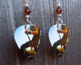 Bullet for My Valentine Michael Paget Guitar Pick Earrings with Smoked Topaz Crystals