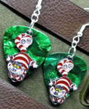 Alice in Wonderland Cheshire Cat Charm Guitar Pick Earrings - Pick Your Color
