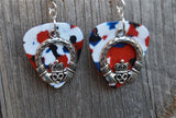 Claddagh Charm Guitar Pick Earrings - Pick Your Color