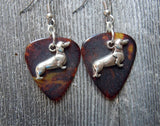 Dachshund Charm Guitar Pick Earrings - Pick Your Color