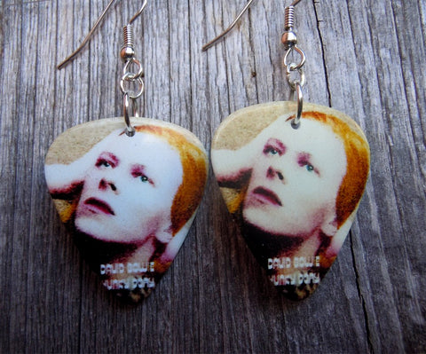 David Bowie Hunky Dory Guitar Pick Earrings