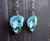 David Bowie Heroes Guitar Pick Earrings with Grey Swarovski Crystals