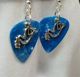 Dove with Olive Branch Charm Guitar Pick Earrings - Pick Your Color