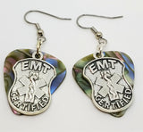 EMT Shield Charm Guitar Pick Earrings - Pick Your Color