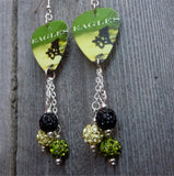 The Very Best of the Eagles Guitar Pick Earrings with Pave Dangles
