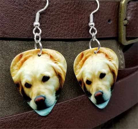 Golden Retriever Guitar Pick Earrings