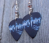 Harry Potter and the Chamber of Secrets Guitar Pick Earrings with a Silver Swarovski Crystal