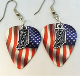 State of Indiana Charm Guitar Pick Earrings - Pick Your Color