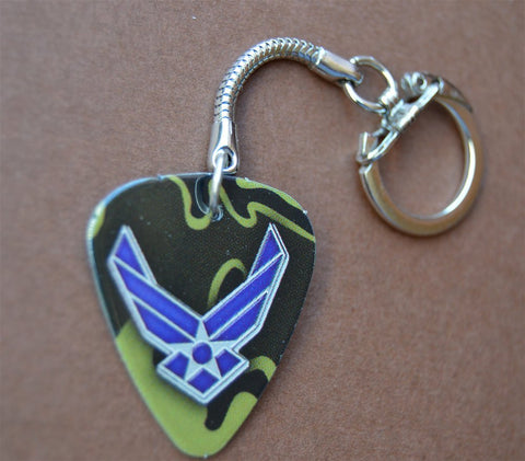 Air Force Guitar Pick Keychain