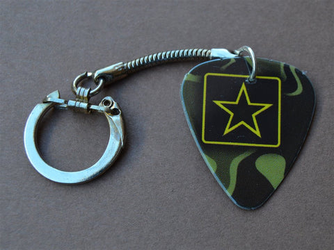 Army Guitar Pick Keychain