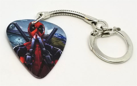 Deadpool Guitar Pick Key Chain