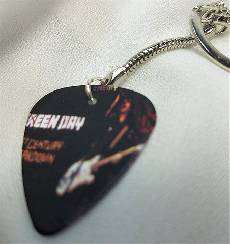Green Day Guitar Pick Keychain