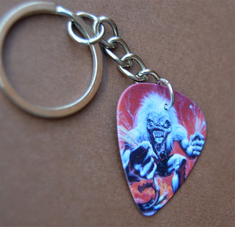 Iron Maiden A Real Live One Guitar Pick Keychain