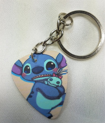 Stitch from Lilo and Stitch Guitar Pick Keychain