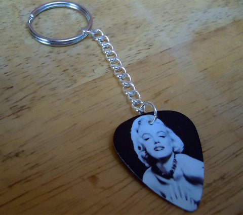 Marilyn Monroe Guitar Pick Keychain