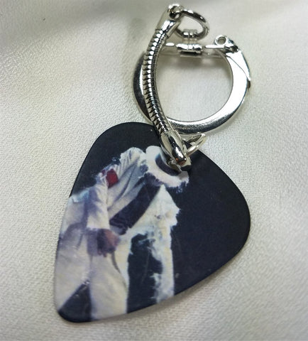 Michael Jackson Smooth Criminal Guitar Pick Keychain