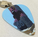 Minecraft Guitar Pick Keychain