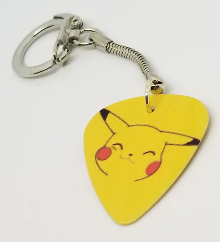 Pikachu of Pokemon Guitar Pick Keychain