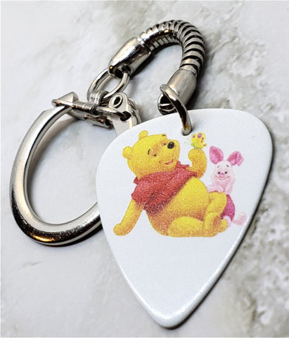 Winnie The Pooh and Piglet Guitar Pick Keychain