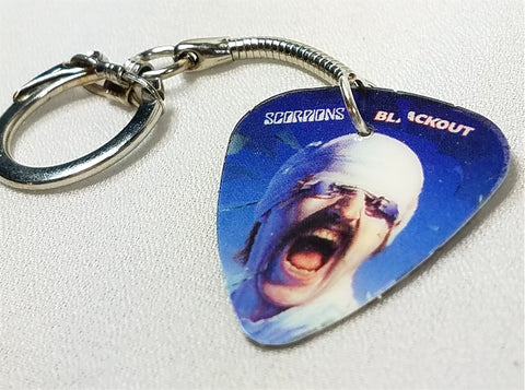 Scorpions Blackout Guitar Pick Keychain