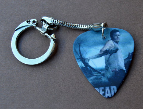 Daryl Dixon The Walking Dead Guitar Pick Keychain