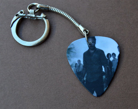 The Walking Dead Group Picture Guitar Pick Keychain