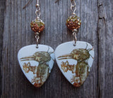 Korn Untitled Guitar Pick Earrings with Ombre Pave Beads