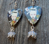 Korn See You On The Other Side Guitar Pick Earrings with Opal Swarovski Crystals