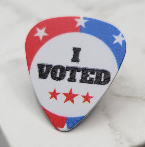I Voted Guitar Pick Pin or Tie Tack