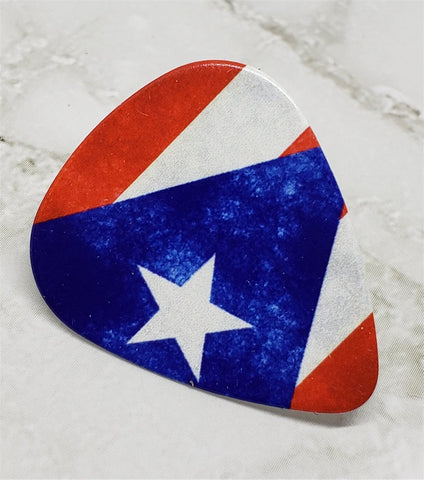Puerto Rican Flag Guitar Pick Pin or Tie Tack