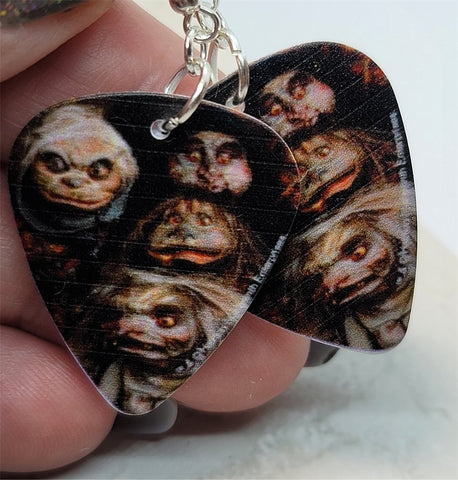 Labyrinth Goblins Guitar Pick Earrings