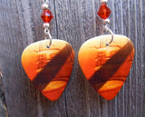 Led Zeppelin Remasters Guitar Pick Earrings with Swarovski Crystals