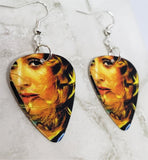 Madonna Close Up Guitar Pick Earrings