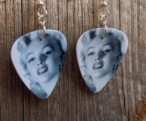Black and White Marilyn Monroe Guitar Pick Earrings