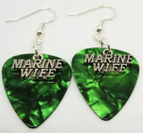 Marine Wife Charm Guitar Pick Earrings - Pick Your Color