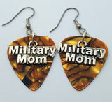 Military Mom Charms Guitar Pick Earrings - Pick Your Color