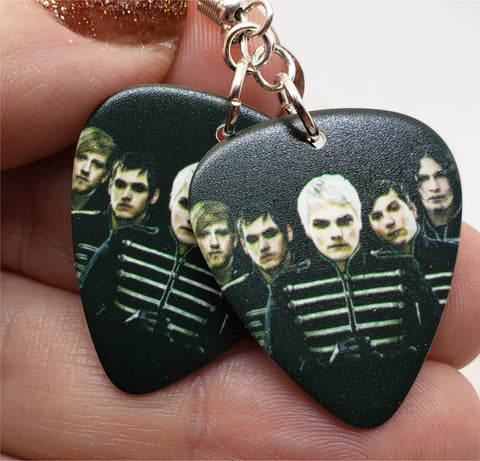My Chemical Romance Guitar Pick Earrings