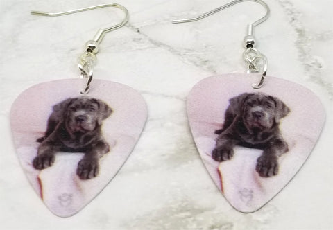 Neapolitan Mastiff Guitar Pick Earrings