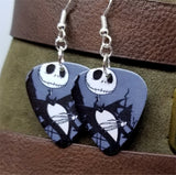 The Nightmare Before Christmas Jack Skellington Guitar Pick Earrings with Surgical Steel Earwires