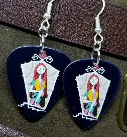 The Nightmare Before Christmas Sally Guitar Pick Earrings