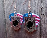 POW/MIA Charm Guitar Pick Earrings - Pick Your Color