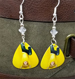 R5 Ross Lynch Guitar Pick Earrings with Clear Swarovski Crystals