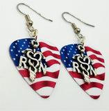 RN Caduceus Charm Guitar Pick Earrings - Pick Your Color