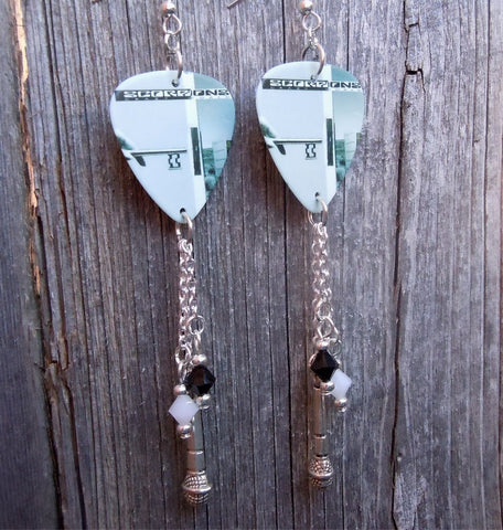 Scorpions Crazy World Guitar Pick Earrings with Dangles
