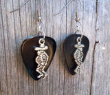 Skeleton with Sombrero Charm Guitar Pick Earrings - Pick Your Color
