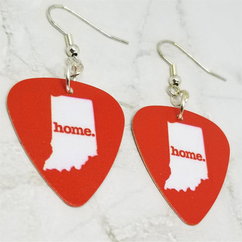 Indiana State Home Guitar Pick Earrings