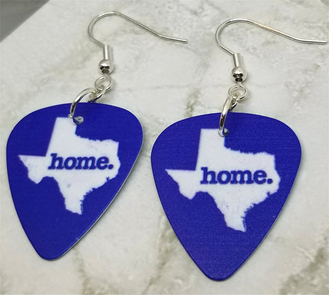 Texas State Home Guitar Pick Earrings