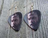 Rick From The Walking Dead Guitar Pick Earrings