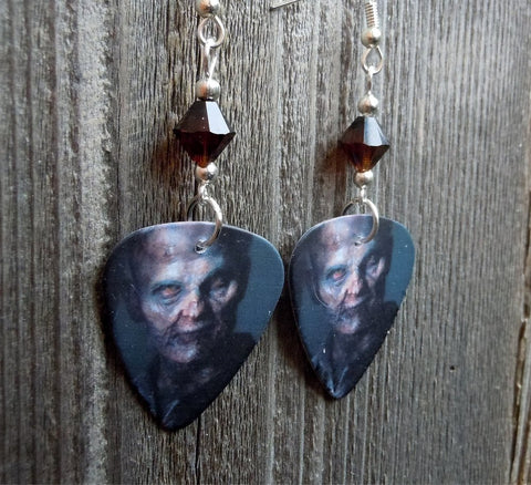 Zombie from The Walking Dead Guitar Picks with Mocha Swarovski Crystals